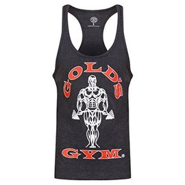 Gold's Gym Muscle Joe Premium String Vest - Charcoal Marl