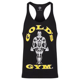 Gold's Gym Muscle Joe Premium String Vest - Black