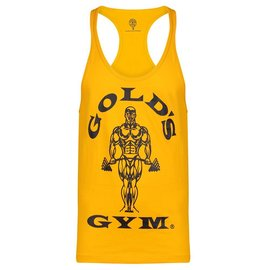 Gold's Gym Muscle Joe Premium String Vest - Gold