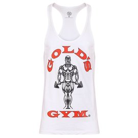 Gold's Gym Muscle Joe Premium String Vest - White