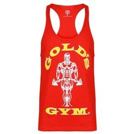 Gold's Gym Muscle Joe Premium String Vest - Red