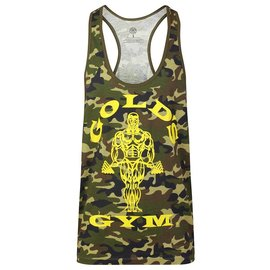 Gold's Gym Muscle Joe Camo Premium Stringer Vest - Green