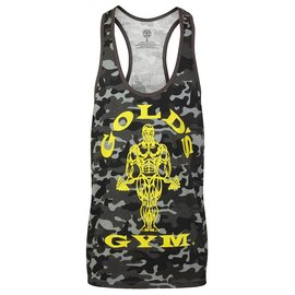 Gold's Gym Muscle Joe Camo Premium Stringer Vest - Black