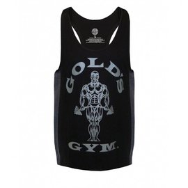 Gold's Gym Muscle Joe Tonal Panel Stringer Vest - Black