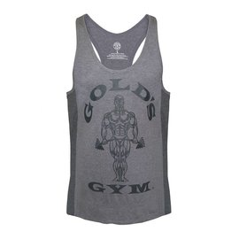 Gold's Gym Muscle Joe Tonal Panel Stringer Vest - Grey
