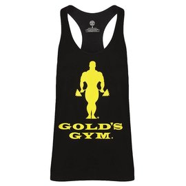 Gold's Gym Slogan Premium Stringer Vest - Black