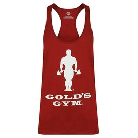 Gold's Gym Slogan Premium Stringer Vest - Burgundy