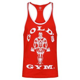 Gold's Gym Muscle Joe Contrast Stringer Vest - Red/White