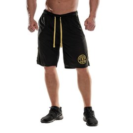 Gold's Gym Logo Mesh Shorts - Black
