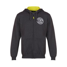 Gold's Gym Zip Through Muscle Joe Hoodie - Charcoal Marl
