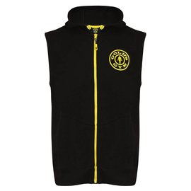 Gold's Gym Logo Sleeveless Hoodie - Black