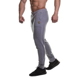 Gold's Gym Fitted Jog Pants - Grey Marl