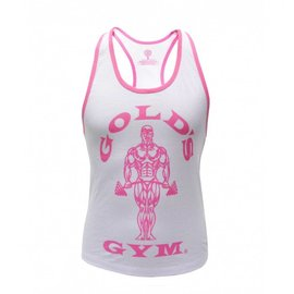 Gold's Gym Muscle Joe Ladies Premium Stringer Vest - White