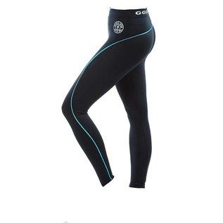 Gold's Gym Ladies Long Gym Leggings - Black/Turquoise