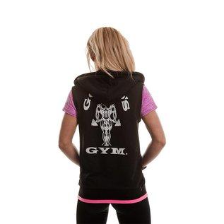 Gold's Gym Gold's Gym Muscle Joe Zip Through Sleeveless Loop Back Hoodie - Black