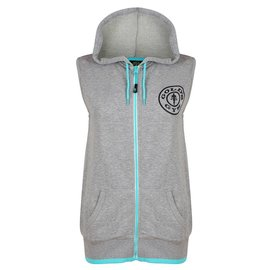 Gold's Gym Gold's Gym Muscle Joe Zip Through Sleeveless Loop Back Hoodie - Grey