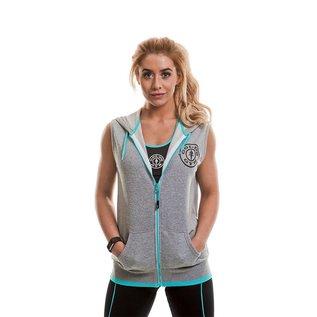 Gold's Gym Gold's Gym Muscle Joe Zip Through Sleeveless Loop Back Hoodie - Grey