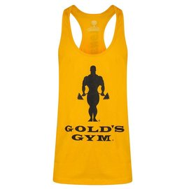 Gold's Gym Slogan Premium Stringer Vest - Gold