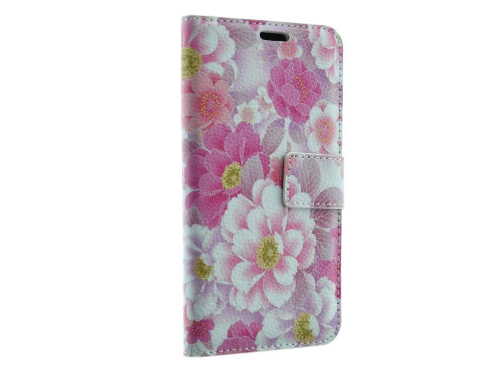 Samsung Galaxy S7 Book Case Flowers Print