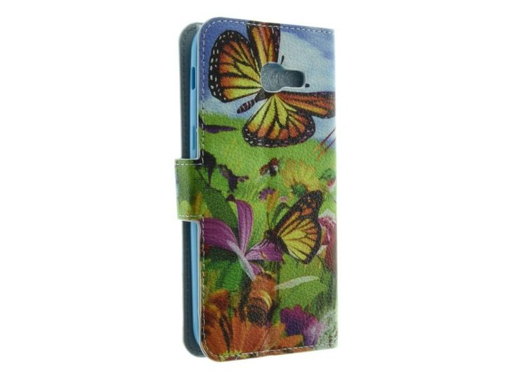 Galaxy A5 (2017) Book Case Green Butterfly