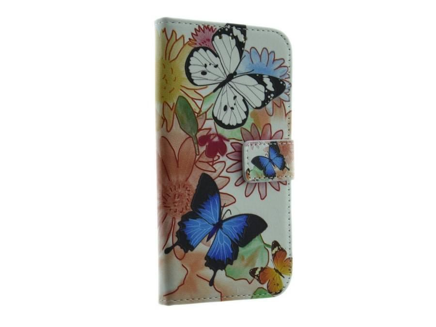 Samsung Galaxy S6 Edge Book Case Mobicase Flower Vlinders