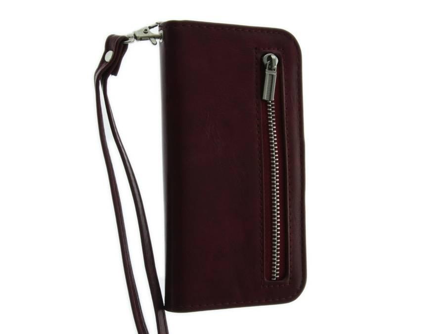 iPhone 6-6S Mobicase Portemonnee Case Cherry Rood