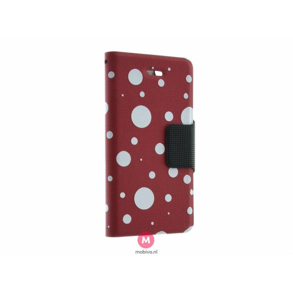 Mobicase iPhone 5/5S/SE Mobicase Book Case Rood Dots