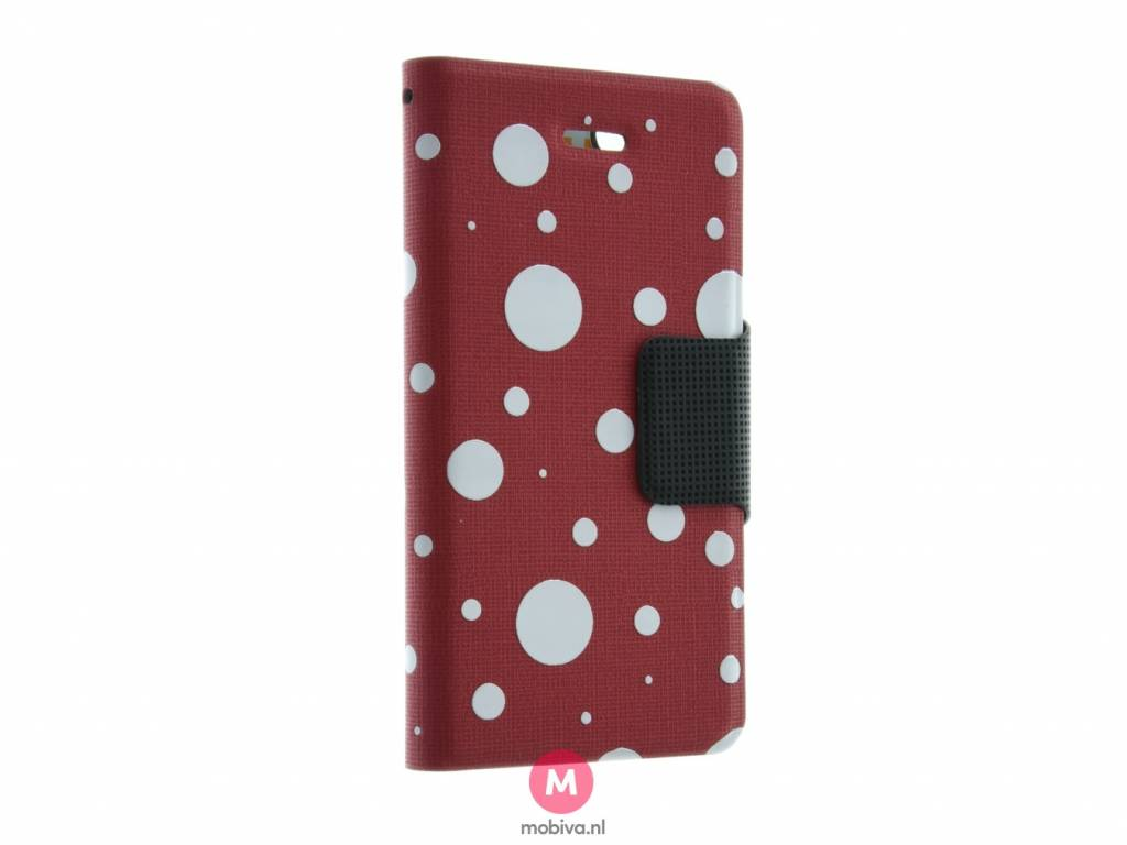 iPhone 5/5S/SE Mobicase Book Case Rood Dots