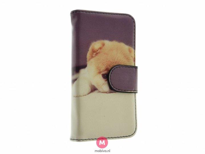 Mobiva iPhone 5/5S/SE Mobiva Book Case Hondjes Print
