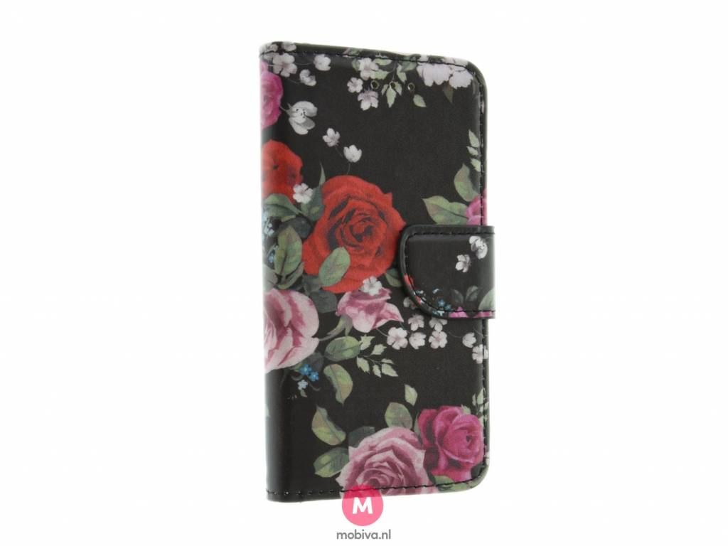 iPhone 5/5S/SE Mobiva Book Case Rozen mix