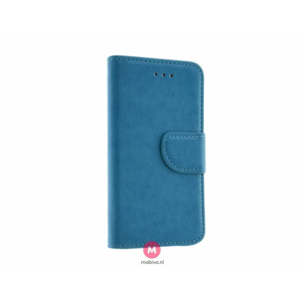 Mobiva iPhone 5/5S/SE Mobiva Book Case Turquoise