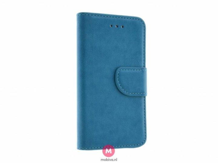 Mobiva iPhone 5/5S/SE Mobiva Book Case Turquoise