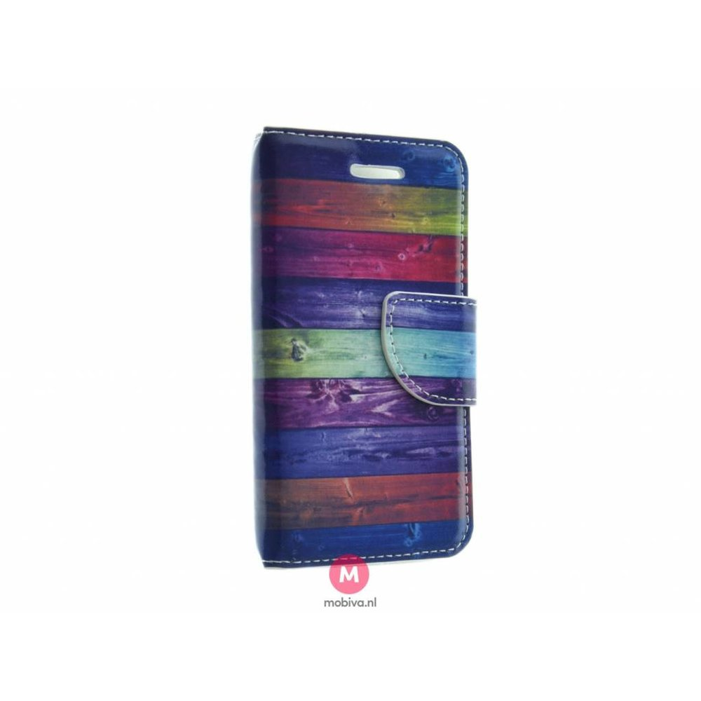 Mobiva iPhone 5/5S/SE Mobiva Book Case Dark Stripes