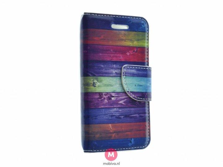 Mobiva iPhone 5/5S/SE Mobiva Book Case Dark Stripes