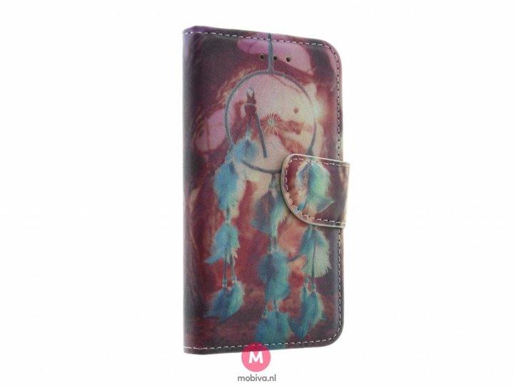 Mobiva iPhone 5/5S/SE Mobiva Book Case Dreamcatcher Roze