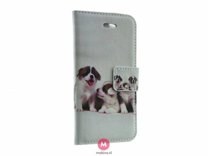 Mobiva iPhone 5/5S/SE Mobiva Book Case Honden