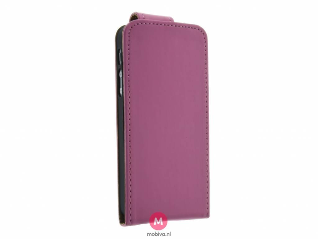 iPhone 5/5S/SE Mobicase Flip Case Roze