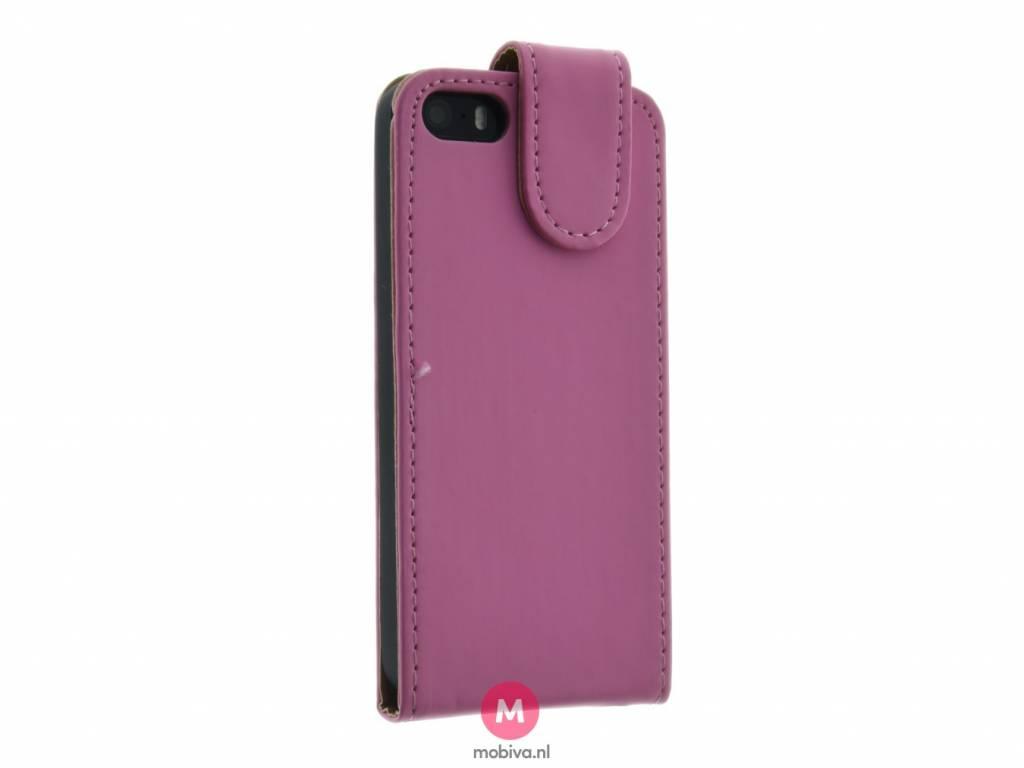 mobicase iphone 5 5s se mobicase flip case roze. Black Bedroom Furniture Sets. Home Design Ideas