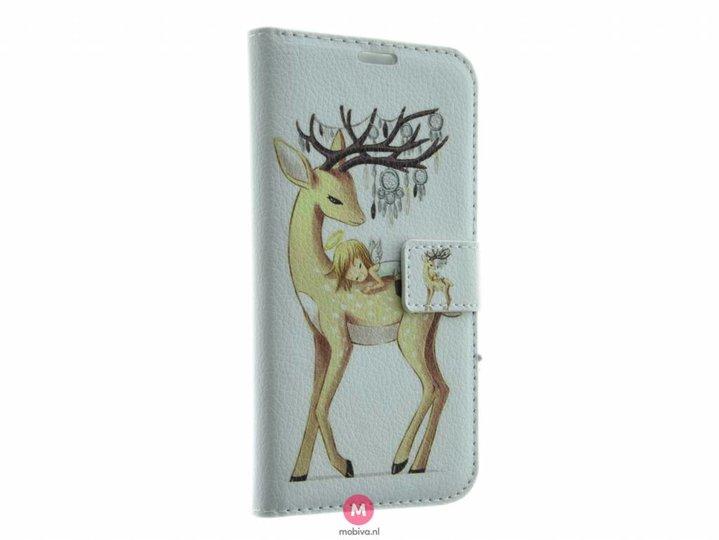 Mobicase Samsung Galaxy S6 Book Case Deer White