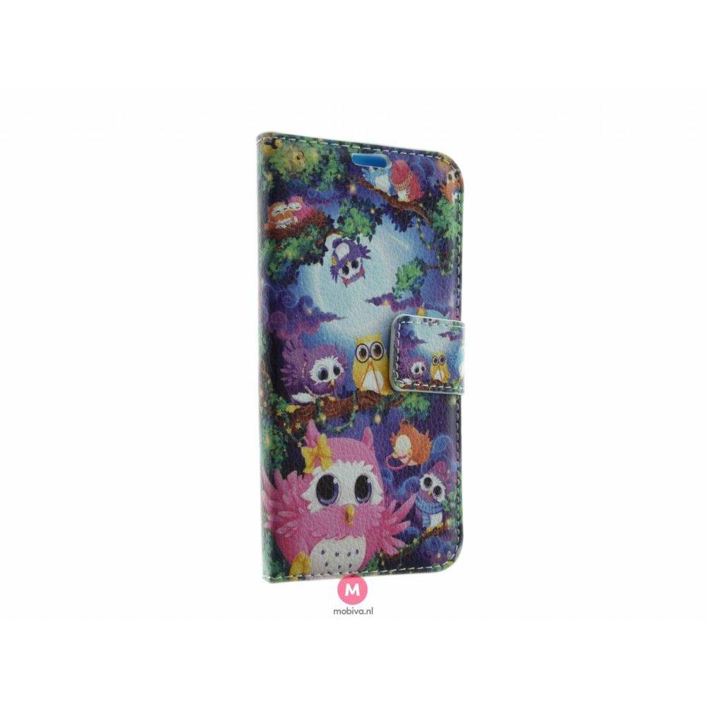 Mobicase Samsung Galaxy S6 Edge Book Case Pretty Owls