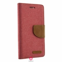 iPhone 7 Kabura Canvas Book Roze