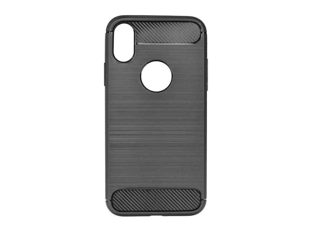Apple iPhone X Carbon Matt Black Case