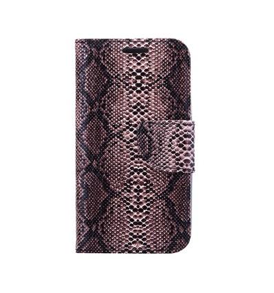 Huawei P8 Book Case Snake Skin Bruin