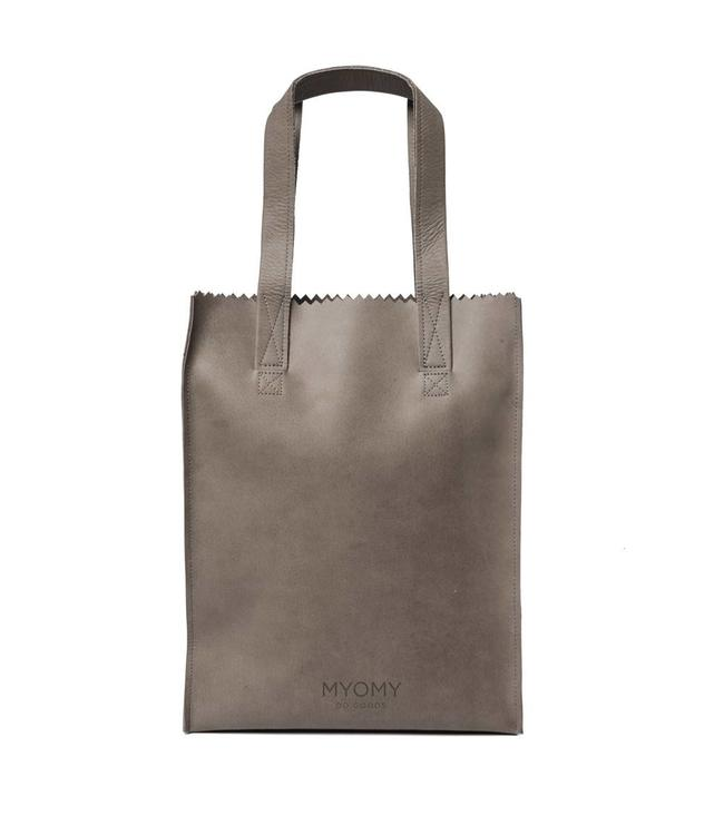 MYOMY My Paperbag Long handle zip hunter taupe