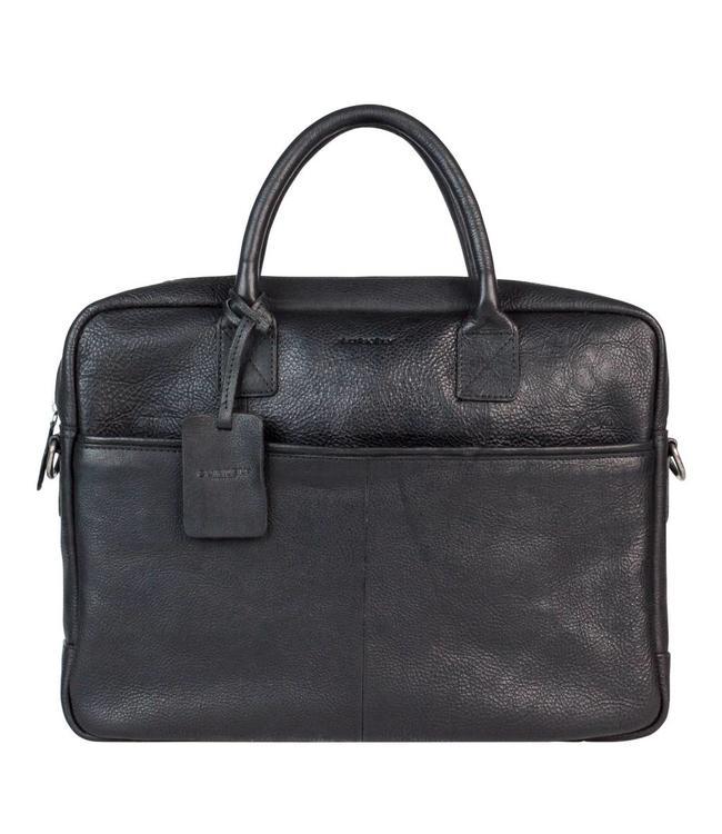 """Burkely Antique Avery laptopbag 15"""" zwart"""
