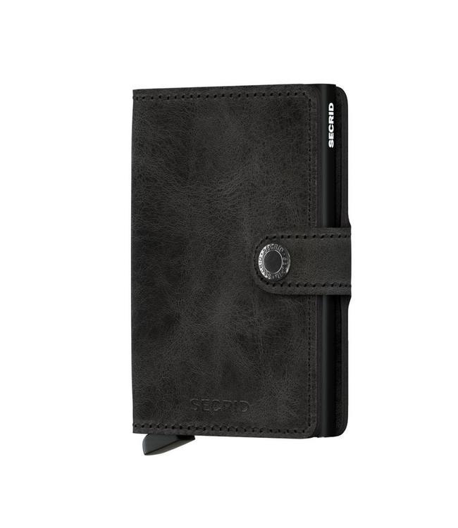 Secrid Miniwallet Vintage Black-pasjeshouder RFID beschermd