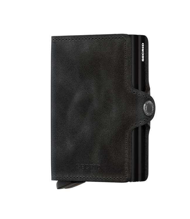 Secrid Twinwallet Vintage Black-pasjeshouder RFID beschermd