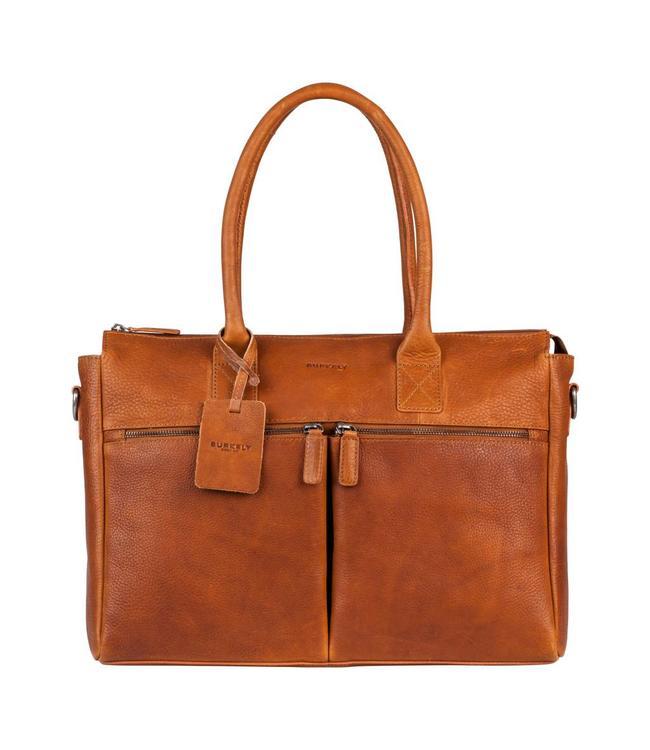 "Burkely Antique Avery laptopbag 15.6"" cognac"