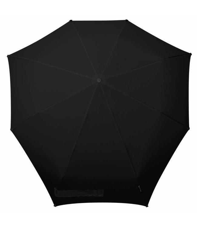 Senz Automatic pure black-opvouwbare storm paraplu