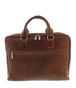 "Plevier 15.6"" business tas cognac"